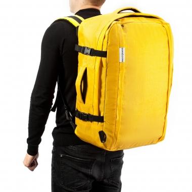 Рюкзак-сумка 55x40x20 трансформер Discover Yellow для ручной клади