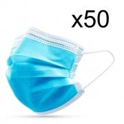 Голубые медицинские маски, 50 шт