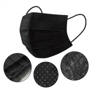 Черные СМС медицинские маски, 50 шт