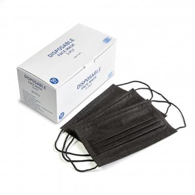 Черные защитные маски UA, 50 шт